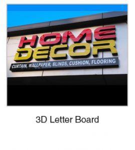 3D Letter Board