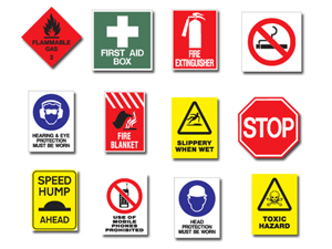 Safety Sign Stickers & Labels